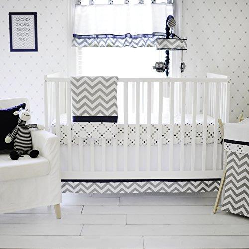 My Baby Sam Out of The Blue Crib Set, (Baby Boy Owl Bedding Crib Sets)