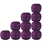 Pack of 10 Pcs Purple Color Cotton Crochet Thread Cross Stitch Knitting Handicrafter Balls Yarn Tatting Doilies Skeins Lacey Craft {40}