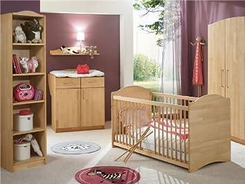 Babyzimmer set buche  Relita Babyzimmer LUNA, 5-teilig mit 3 türigem Kleiderschrank Buche ...