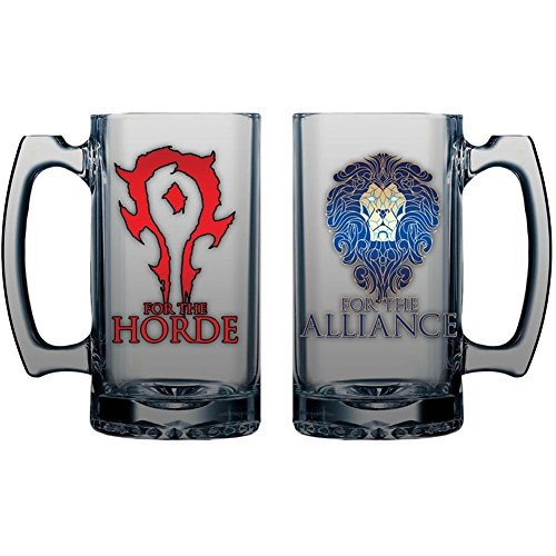 Warcraft Horde/Alliance 16 oz. Glass Mug