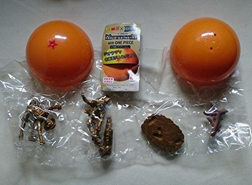 Bronze Dragon Ball (Dragon Ball Z One Piece Dragon Ball Capsule Neo with ONE PIECE 1 Goku Luffy (Bronze))