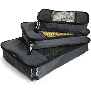 TravelWise Packing Cube System - Durable 3 Piece Weekender Luggage Organizer Set