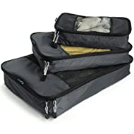 TravelWise Packing Cubes - 3 Piece Set (Black)