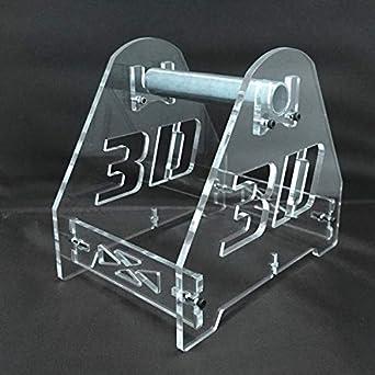 Filamento de bobinas de soporte acrílico transparente 3d: Amazon ...