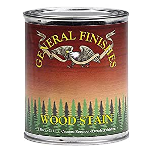General Finishes WYPT Water Base Wood Stain, 1 pint, Brown Mahogany