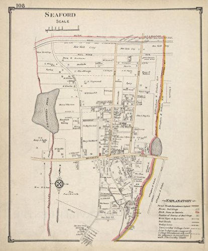 Amazon.com: Historic Map | Seaford | Nassau County (N.Y.) | Maps ...