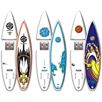 Santa Cruz 3 Pack 16GB SurfDrive USB Flash Drive, Archbold, Hand Wave, Hibiscus