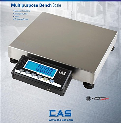 CAS GW-70 Bench Scale with Stainless steel Pan NTEP Legal For Trade, Parcel/ Shipping/ Food ? Industrial scale 70 lb x 0.02 lb by CAS