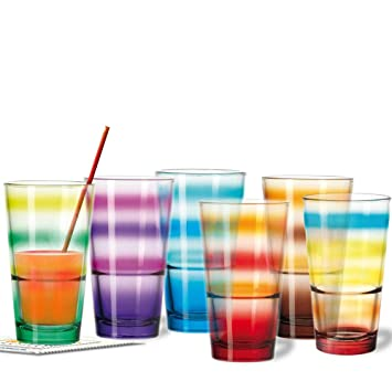 Leonardo Set 6 Becher Event Farbig Sortiert Wasserglas Glaser