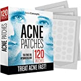 Acne Patches (120 Pack), Tea Tree Oil and Hydrocolloid Pimple Patches for Face, Zit Patch (3 Sizes), Blemish Patches, Acne Dots, Pimple Stickers, Natural Acne Patch and Pimple Patch (Color: Invisible)