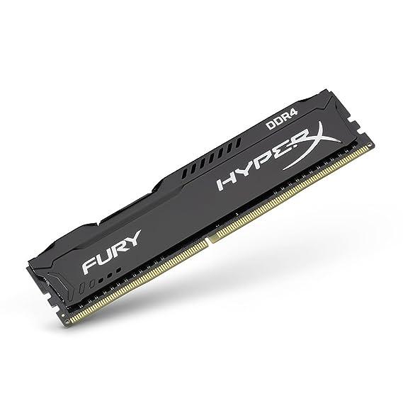 HyperX Fury, Memoria Ram de 8 GB (Ddr4, 2400 MHz, Cl15, Dimm Xmp, Hx424C15Fb2/8), 288-pin DIMM, 8 GB (1 x 8 GB), Negro