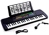 De Rosa Children 49 Keys Electronic Piano Music Keyboard Black