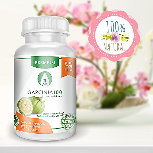 Garcinia Cambogia 100  Pure Extract Weight Loss Supplement 95  Hca Premium Strength Usa Made