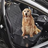 """Pettom Car Bucket Seat Cover Protector for Dogs Pets Nonslip Rubber Backing with Anchors Fit Cars Trucks and Suvs Waterproof Black 39"""" *20"""""""
