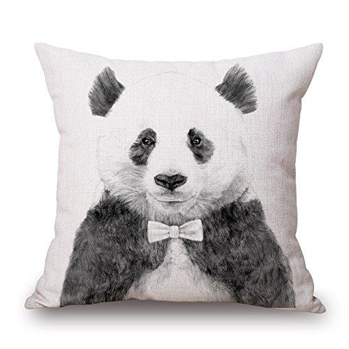 Dibujos animados oso Panda impresión algodón cojín sofá ...