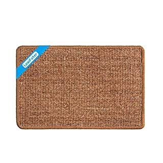 LSAIFATER Cat Scratching Mat, Natural Sisal Mat, Protect Carpets and Sofas (14.9x23.6 inch, Brown)