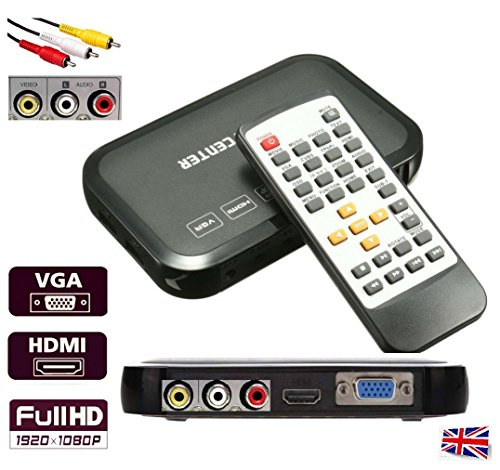 HD Multi Media Player Box Full 1080P Portable, Plays almost all Audio Video...