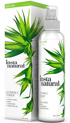 InstaNatural Vitamin C Facial Toner - 100% Natural & Organic Anti Aging Face Spray - Pore Minimizer & Calming Skin Treatment Sensitive, Dry & Combination Types Prep for Serums & Moisturizers 4 OZ (Super Start Vitamin Pack compare prices)