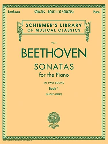 Sonatas - Book 1: Piano Solo (Schirmer's Library of Musical Classics) [Ludwig van Beethoven] (Tapa Blanda)