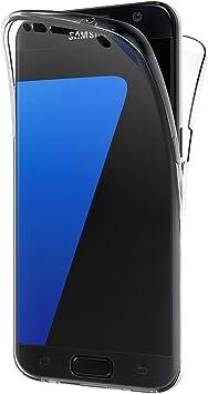 AICEK Funda Samsung Galaxy S7 Edge, Transparente Silicona 360 ...
