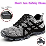 GUDUN Breathable Unisex Steel Toe Boots Men's Comp Steel Toe Boots Steel Toe Safety Work Shoes Hiking Boot Logging Lumber Steel Toe Shoes(Check feet Length to Choose Size) (41, GD11)