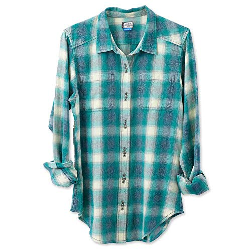 KAVU Women's Cameron Button Down Shirts, Small, Jade Cameron Button Down Shirt
