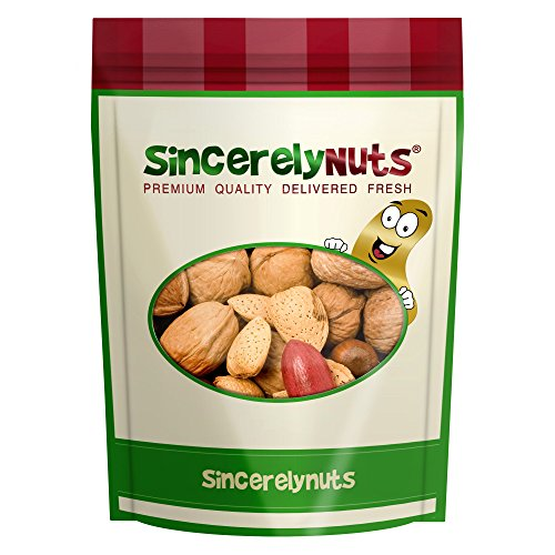 Sincerely Nuts Raw Mixed Nuts in Shell - Five Lb. Bag. - Walnuts, Filberts, Almonds, Brazil Nuts, Pecans - Insanely Delish - Impossibly Crunchy - Filled With Minerals & Vitamins - Kosher ()