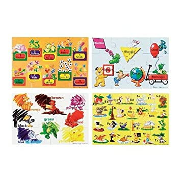 Amazoncom Melissa Doug Beginning Skills Pc Floor Puzzle - Melissa and doug floor puzzle