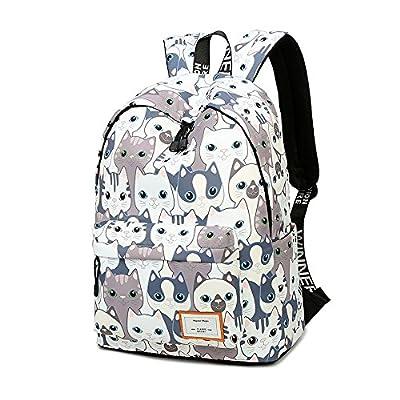 Teecho Girls Waterproof School Backpack Fashion 15.6