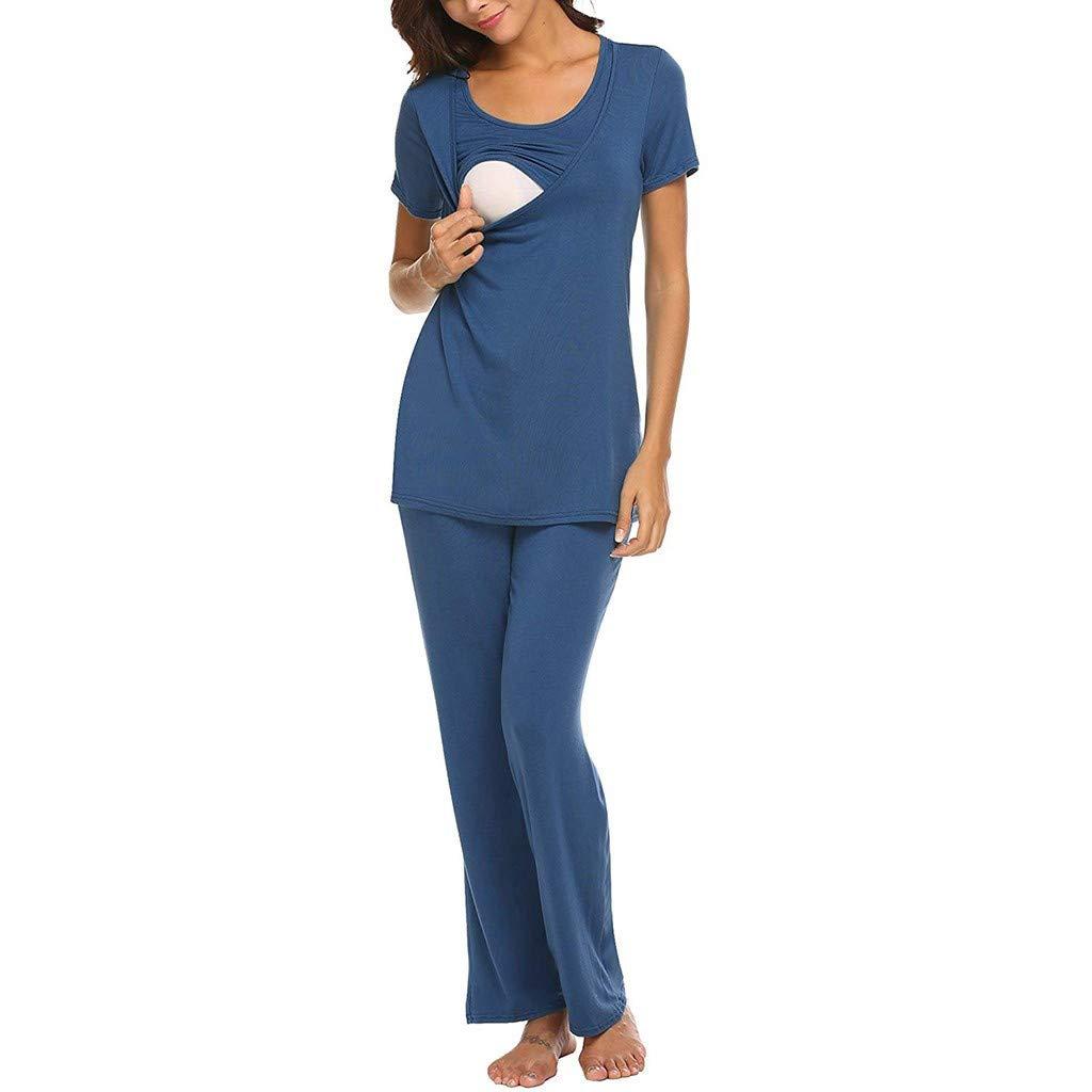 GUCIStyle Pijama de Lactancia Primavera Ropa Premamá Embarazadas ...