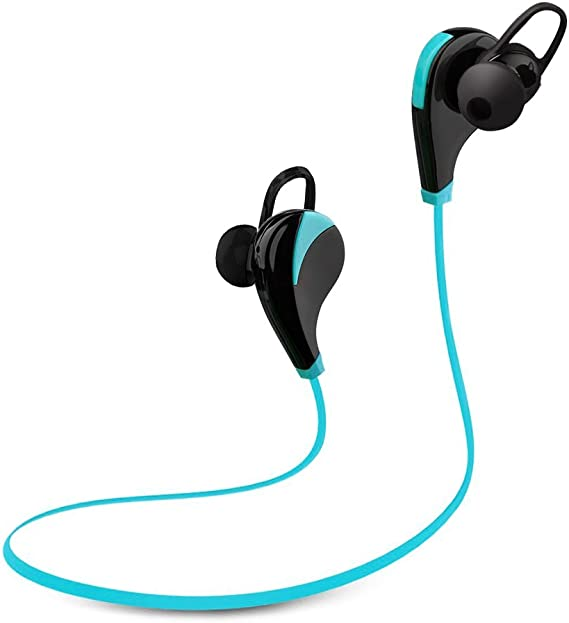 Amazon Com Amir Bluetooth Headset Stereo Noise Cancelling Headphones With Mic Sweatproof Bluetooth Earbuds Headset Earphones For Iphone 7 6 6 Plus 5 5c 5s Ipad And Android Devices Blue