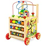Best Choice Products 5-in-1 Educational Wooden Toy Bead Maze Learning Activity Cube Set
