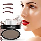 Ladygo 3 Stencils Eyebrow Stamp Waterproof Powder Brush Eye Brow Perfect Seal Natural-Looking Eyebrows Delicate Shape in Seconds Makeup Tool for Beginners & Busy People-Color Light Brown