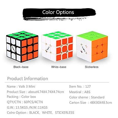 HelloCube QiYi Valk 3 Mini Cube 474mm Black Magic Speed