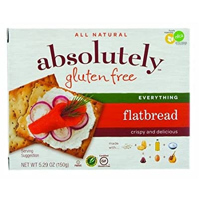 ABSOLUTELY GLUTEN FREE FLATBREAD GF EVERYTHING, 5.29 OZ Pack of 12