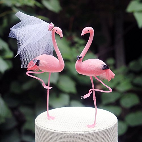 Pink-Flamingo-Cake-Topper-Bride-and-Groom-Love-Bird-Wedding-Cake-Topper-As-seen-in-Bride-To-Be-Magazine