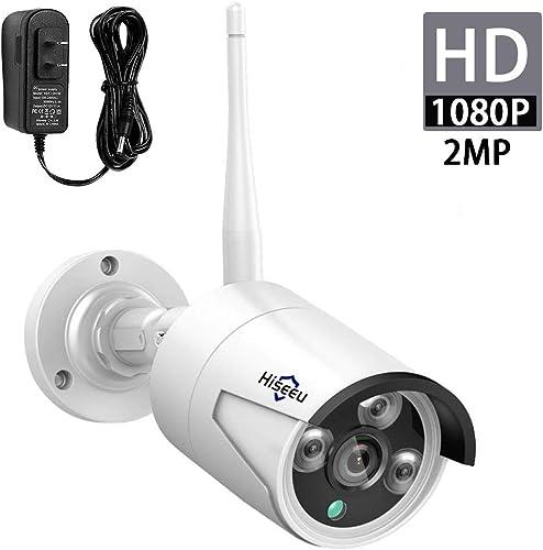 Hiseeu 2MP 1080P Outdoor Wireless Security Camera,Waterproof Outdoor Indoor 3.6mm Lens IP Cut Day Night Vision