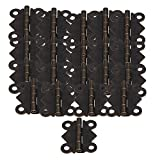 BQLZR DIY Repair Bronze Decorative Mini Antique Butterfly Hinges S Size For Cabinet Box Pack Of 20