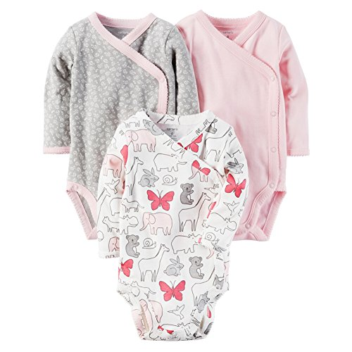 Carter's Baby Girls' 3-Pack Side Snap Bodysuits 9 - Bhs Clothing Womens Sale