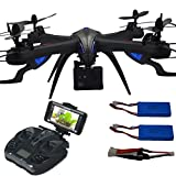 Blomiky I8HG FHD 1080P Quadcopter Drone with 12.0MP 170° Wide-angle W9F WIFI FPV Action Camera RC Drone Extra 2 Battery I8HG