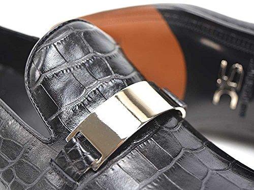 DIS Casanova - Mocassino Uomo Pelle Cocco Nero Mocassino personalizzato in cocco nero, fatto a mano e su misura, made in Italy.