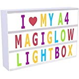 Cinematic LED Letter Light Box, KINGCOO,90 Letters and Symbols Light Up Your Life Letter Box USB Battery Powered (Multicolor)