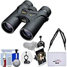 Nikon Prostaff 3S 8x42 Waterproof / Fogproof Binoculars with Case + Harness + Smartphone Adapter + Cleaning Kit