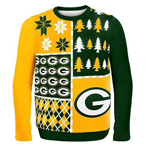 Green Bay Packers Busy Block Ugly Sweater Medium from FOCO