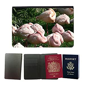 Hot Style PU Leather Travel Passport Wallet Case Cover // M00114017 Flamingo Sleep Deprivation Sleeping // Universal passport leather cover