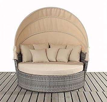 polyrattan liegeinsel sonneninsel somatra grau. Black Bedroom Furniture Sets. Home Design Ideas