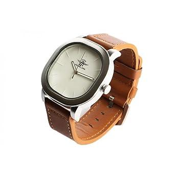 Reloj hombre Carre pulsera piel marrón eleox - hombre: Amazon.es: Relojes