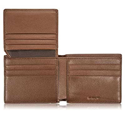 EGNT Brown Carbon ID Wallet Mens RFID Genuine Leather Slim Credit Card Holder Minimalist …