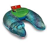 Critter Piller Kid's Neck Pillow, Blue Snake
