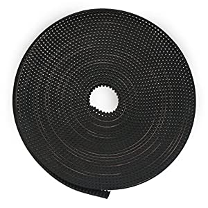 DROK 5 Meters/16.4 ft 2GT 6mm Width Timing Belt, High Toughness MXL Rubber Drive Belt, GT2 Belt for 3D Printer, Belt Sander, Motorcycle, Packing Machinery